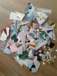 Stained Glass Scrap Pieces Assorted Sizes- 21.5 lb.(20 lb plus over 1 lb extra)