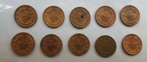 [10] Honduras 1 Un Centavo de Lempira 1957. KM#77.2. One Cent coin.