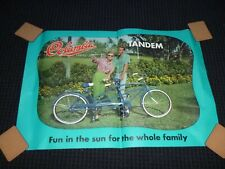 Vtg 60's Columbia Bicycle Store Advertising Poster Tandem Bike 32 x 21.5""