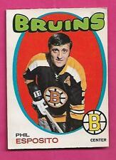1971-72 OPC # 20 BRUINS PHIL ESPOSITO  GOOD CARD  (INV# D0728)