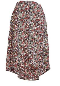J.Crew Factory Size 2x Faux-wrap Pull On Midi  Floral Print Skirt CottageCore