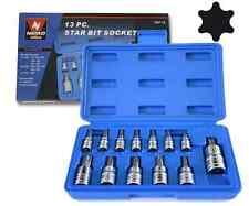 Torx Bit Socket Set - 13 Piece Star Bit Socket Sets - Neiko 10071A