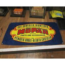 New listing Mopar Flag Banner Sign garage mancave hotrod Dodge Plymouth Desoto roadrunner v8