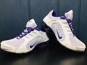 Nike Shox NZ Navina Women's White Purple Running Shoes 356918-550 US Size 8 VGC