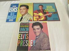 Elvis Presley country favorites, gi blues, & essential lp's - lot of 3
