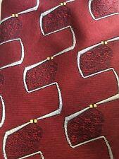 "Vintage Fendi Roma Michael's Bespoke Tailors Geometric MCM Silk Italy Skinny 3"""