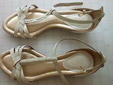 Ladies Cream Sandals by Clarks Size 7