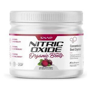 Organic Nitric Oxide Beet Root Powder: Superfood, L-Arginine, L-Citrulline 5.3oz