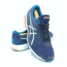 Asics GT-1000 v5 Mens Size 10 Running Shoes Indigo Blue Hot Orange T6A3N EUC