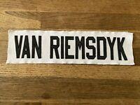 VAN RIEMSDYK Game Used Worn Ottawa Senators White Jersey Nameplate