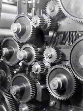 Vintage photo ingénierie industrielle rouages engrenages machine poster print BB12308B