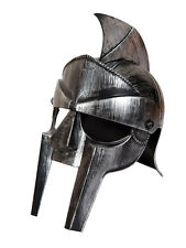 Silver Gladiator Roman Helmet Adults Centurion Plastic Fancy Dress Accessory New