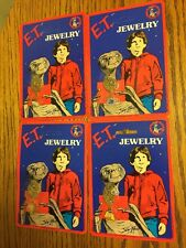 Vintage E.T Extra Terrestrial Jewelry 4 Necklaces Lot 1982 80's NOS Sealed L@@K
