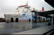 STENA LINE CALEDONIA CAR FERRY SHIP BELFAST IRELAND 2005 ORIGINAL SLIDE+COPY