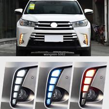 LED DRL Daytime Running Light/Front Fog Lights For Toyota Highlander 2018 2019