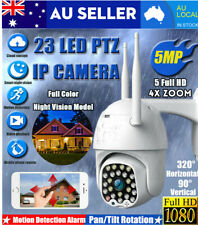 4x Zoom 5MP HD IP Camera Waterproof Outdoor WiFi PTZ Security Wireless IR 23 LED