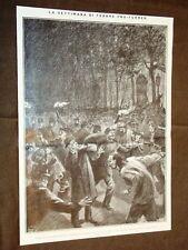 Parigi 13 ottobre 1909 Pro Ferrer Sommossa Ambasciata di Spagna Sparo vs Lépine