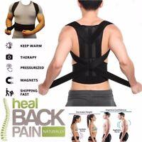 Medical Scoliosis Posture Corrector Spine Back Support Shoulder Brace Belt USPS