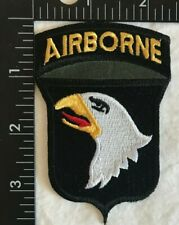 US ARMY 101st AIRBORNE Screaming Eagle EMBROIDERED IRONSEW ON PATCH BADGE A284
