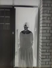 Glass Slide Negative - Girl in Doorway