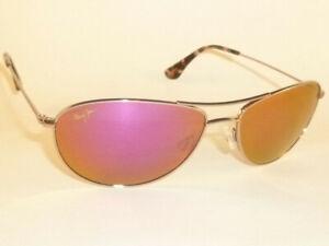 New Authentic  Polarized  MAUI JIM BABY BEACH  Sunglasses  P245-16R  Pink Lenses
