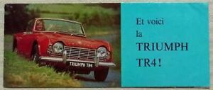TRIUMPH TR4 Sports Convertible Car Sales Brochure 1963 FRENCH #338/963/EXP.FR