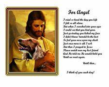 Cocker Spaniel Memorial Picture w/Jesus/Poem Personalized w/Dog's Name-Pet Loss