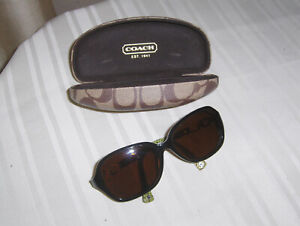 COACH HC 8019 L007 Beatrice Dark Olive Prescription Sunglasses 58-16-135 2n
