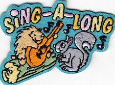 """""""SING-A-LONG"""" - Iron On Embroidered Applique Patch/Singing, Music, Songs"""