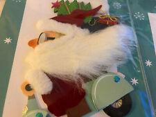 4 - 3d burgoyne Santa on motorcycle Christmas cards with fur beards-Locat Bin 2