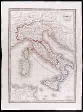 1841 - Carte ancienne Italie ancienne / Monin / Vecchia mappa Italia / Map