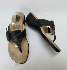 Spring Step Womens Shoes Sandals Black Thong Buckle Italy Size US 7.5-8 EU 38