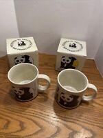 Vintage 1984 Taylor & Ng Coffee Cup Mug Wonda Panda Bear New Set Of 2