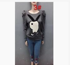 SALE ASSORTED TOP (TG) -  GRAY LONG SLEEVES ROUND NECK
