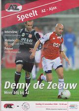 Programme / Programma AZ Alkmaar v Ajax Amsterdam 23-11-2008