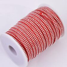 5mm Velvet Ribbon with Silver Beads for Bracelet Bag Hat Cards Gift Decoration