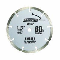 "Rockwell RW9283 4 1/2"" Diamond 60-Grit Compact Circular Saw Blade"