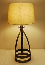 Vintage Wrought Iron Table Lamp (flower Pot)