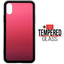 Para iPhone X XS Shockproof Soft TPU Silicone Bumper Red Color Caso Cover