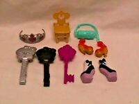 MONSTER HIGH/EVER AFTER HIGH Lot of Accessories SHOES Hair Brushes Purse Crown+