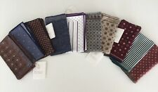 NWT Brunello Cucinelli Men's 10 Assorted Wool Linen Cotton Silk Pocket Squares