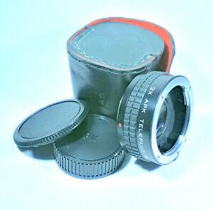 2X APK Teleplus MC4 Teleconverter Lens - P/K Mount [VGC, Cased]