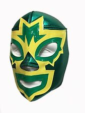 MASK MANIAC (pro-fit) Wrestling Halloween Mask Lucha Libre - Green/Yellow