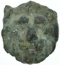 1ST CENTURY BC LION HEAD ROMAN STATUE HEAD APPLIQUE /AMULET /AUTHENTIC