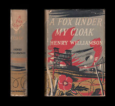 Henry Williamson  A FOX UNDER MY CLOAK YPRES  Battle of Loos  1955 First Edition