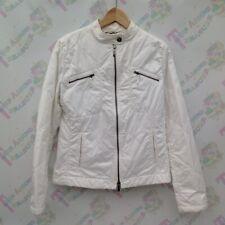 Womens Burberry London Quilted White Jacket Size 42 UK 10