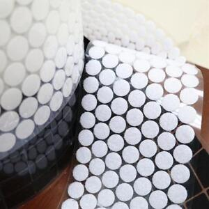350 Pairs 15mm Hook and Loop points Round self-adhesive dots Stickers White LDS