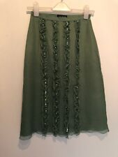 UK 8 COAST GREEN SILK SKIRT TOWIE/SUMMER/HOLIDAY/PARTY/BEACH/EVENING/PARTY/CELEB