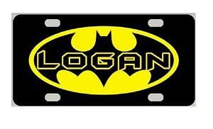 BATMAN Kids Personalized MINI LICENSE PLATE Bicycles ATVs Wagons Door Sign
