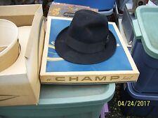 VINTAGE CHAMP HAT FERDORA KASMIR FINISH W/ BOX
